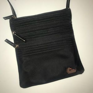 Dooney & Bourke Black Triple Zip Crossbody